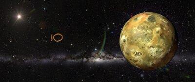 Väggdekor Io i yttre rymden.