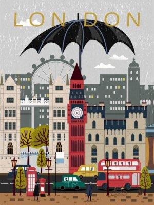 Väggdekor iögonfallande Storbritannien reser affischen