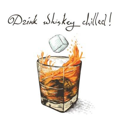 Väggdekor is faller i whisky