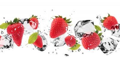 Väggdekor Is frukt på vit bakgrund