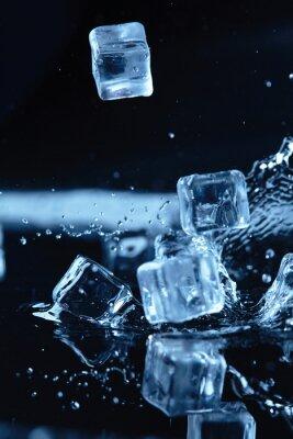 Väggdekor isbitar med vattenstänk