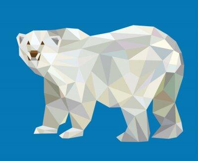 Väggdekor Isbjörn låg poly vektor