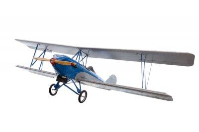Väggdekor isolerad modell flygplan mot vit