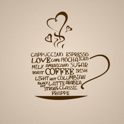Väggdekor Isolerad symbol för kaffekopp
