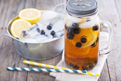 Väggdekor Iste med citron och blåbär