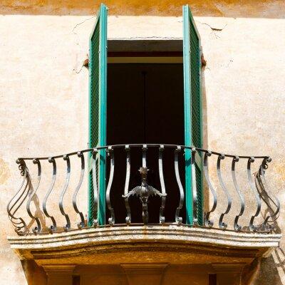 Väggdekor Italienska Balkong