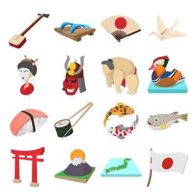 Väggdekor Japan ikoner som