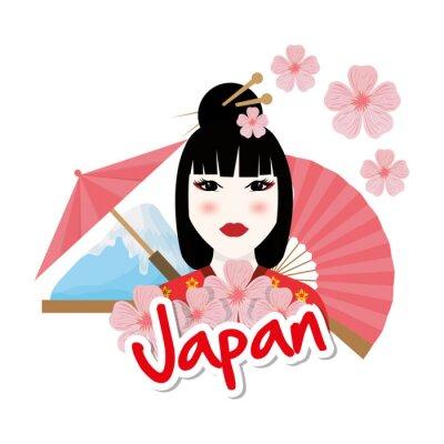 Väggdekor Japan kultur utformning
