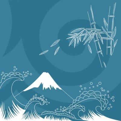 Väggdekor Japan utformar illustrationen