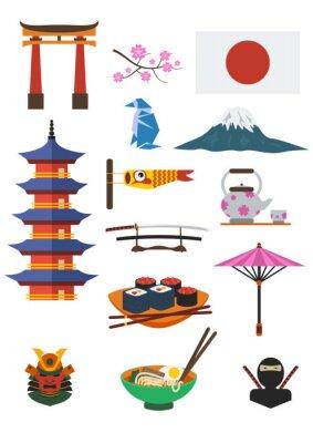 Väggdekor Japansk kultur Set