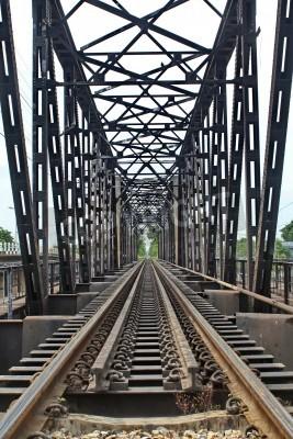 Väggdekor Järnväg längd över floden
