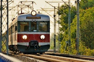 Väggdekor järnvägstransporter