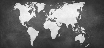 Väggdekor jord kartan på bakgrund