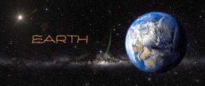 Väggdekor Jorden i yttre rymden.