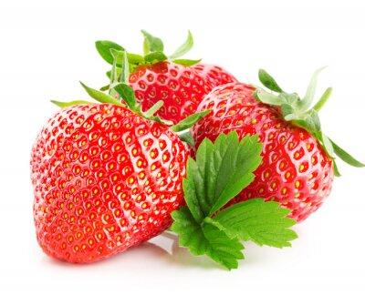 Väggdekor jordgubbar isolerad på den vita bakgrunden