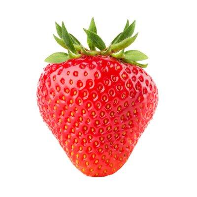 Väggdekor jordgubbe isolerad på den vita bakgrunden
