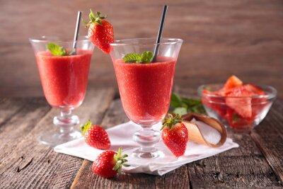 Väggdekor jordgubbe smoothie
