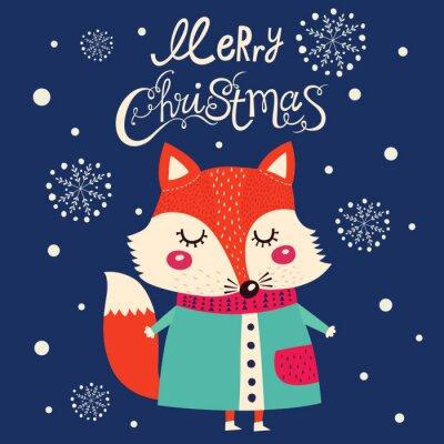 Väggdekor Julkort med söt