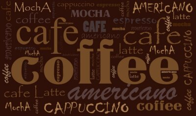Väggdekor kaffe bakgrund
