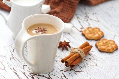 Väggdekor Kaffe latte och chokladkakor