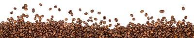 Väggdekor kaffebönor isolerad på vit bakgrund