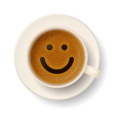 Väggdekor Kaffekopp för gott humör