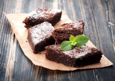 Väggdekor Kaka choklad brownie