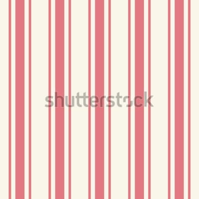 Väggdekor Kaklad vanlig tunn ljusrosa färgstiftmall i konstnärlig enkel klassisk crimson-tryckstil på beige fond. Upprepning av moderna brokiga djärva remsor. Närbilddetaljvy med utrymme för text