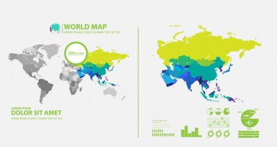 Väggdekor karta infographic