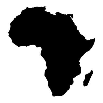Väggdekor Karta över Afrika