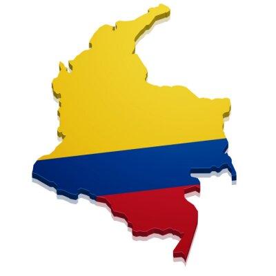 Väggdekor karta över Colombia
