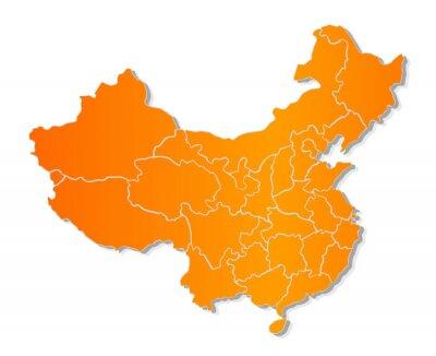 Väggdekor Karta över Kina