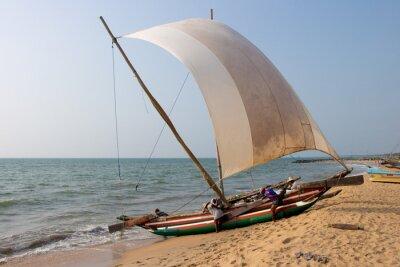 Väggdekor Katamaran Negombo strand, Sri Lanka