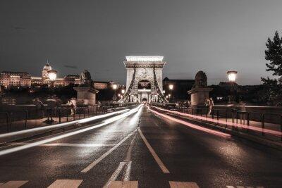 Väggdekor Kedjebron på natten