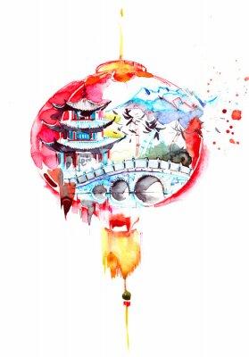 Väggdekor Kina
