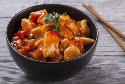 Väggdekor Kinesiska kyckling sötsur sås