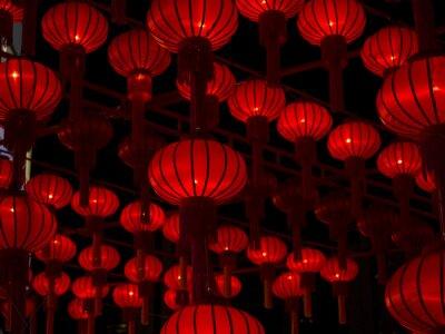 Väggdekor Kinesiska lyktor, kinesiska nyåret.