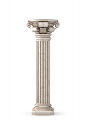 Väggdekor Klassisk grekisk pelare. 3D-rendering.