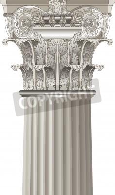 Väggdekor klassisk kolonn