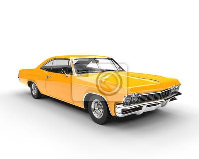 Väggdekor Klassisk muskel gul bil - studio belysning skott