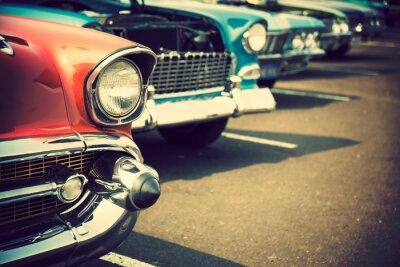 Väggdekor Klassiska bilar i rad