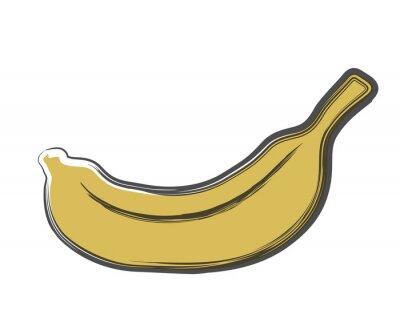 Väggdekor klotter banan
