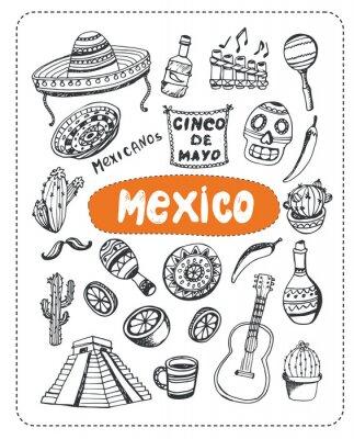 Väggdekor Klotter om Mexiko.