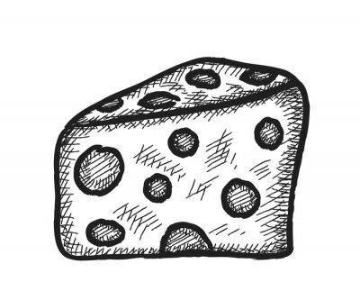 Väggdekor klotter ost