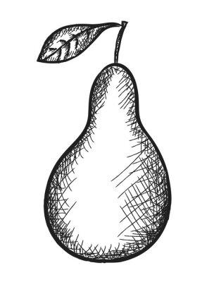 Väggdekor klotter päron