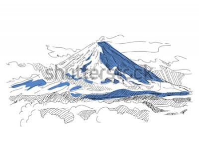 Väggdekor Klyuchevskaya Sopka. Vulkan. Kamtjatka. ryssland