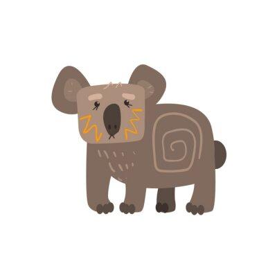Väggdekor Koala ständiga Flat tecknad stiliserade