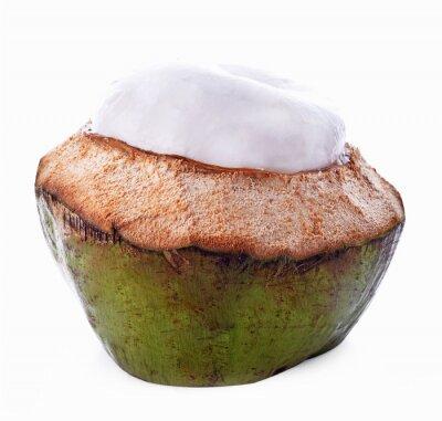 Väggdekor Kokosnötskal isolerade på vit bakgrund