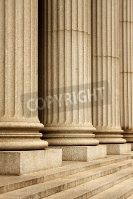 Väggdekor Kolumner av Högsta domstolens byggnad - New York, USA