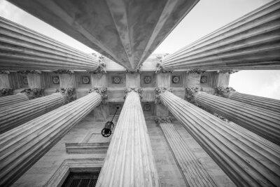 Väggdekor Kolumner på den amerikanska högsta domstolen